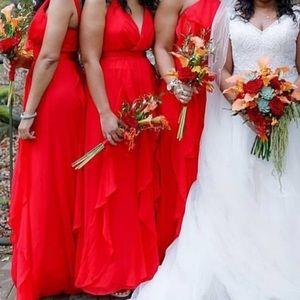 Vera Wang Chiffon Bridemaids Dress Size 4